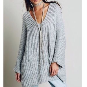 Sweaters - NWT Oversized V-Neck Sweater Tunic with Pockets